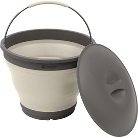 Outwell Collaps Bucket with Lid, cream white